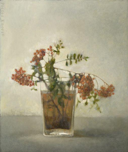 : Pieter Knorr Lijsterbes 72 x 57 cm, Olieverf op paneel, 2012