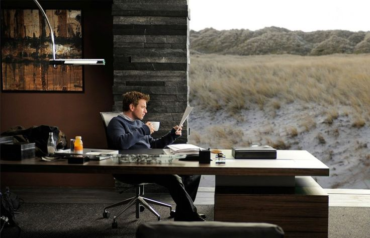 The CEOO Desk and the Preben Fabricius & Jørgen Kastholm Chair as seen on the set of The Ghost Writer