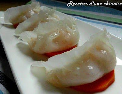 Recettes d'une Chinoise: Raviolis aux crevettes à la vapeur (Ha Kao) 蒸虾饺 zhēng xiā jiǎo