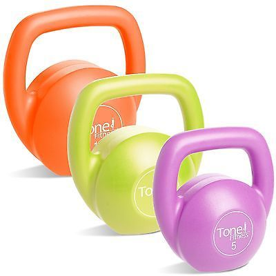 Kettlebells 179814: Tone Fitness Vinyl Kettlebell Set With Dvd 30-Pound Set -> BUY IT NOW ONLY: $33.8 on eBay!