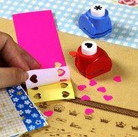 10pcs/set Funny Color Random Mini Child Paper Shaper Cutter Punch DIY Card Making Scrapbooking Tags Craft Tool (Color: Multicolor)