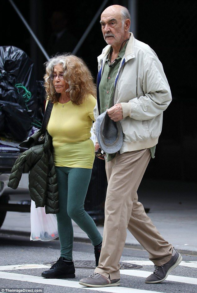 Sean Connery strolls around NYC with his wife Micheline ...