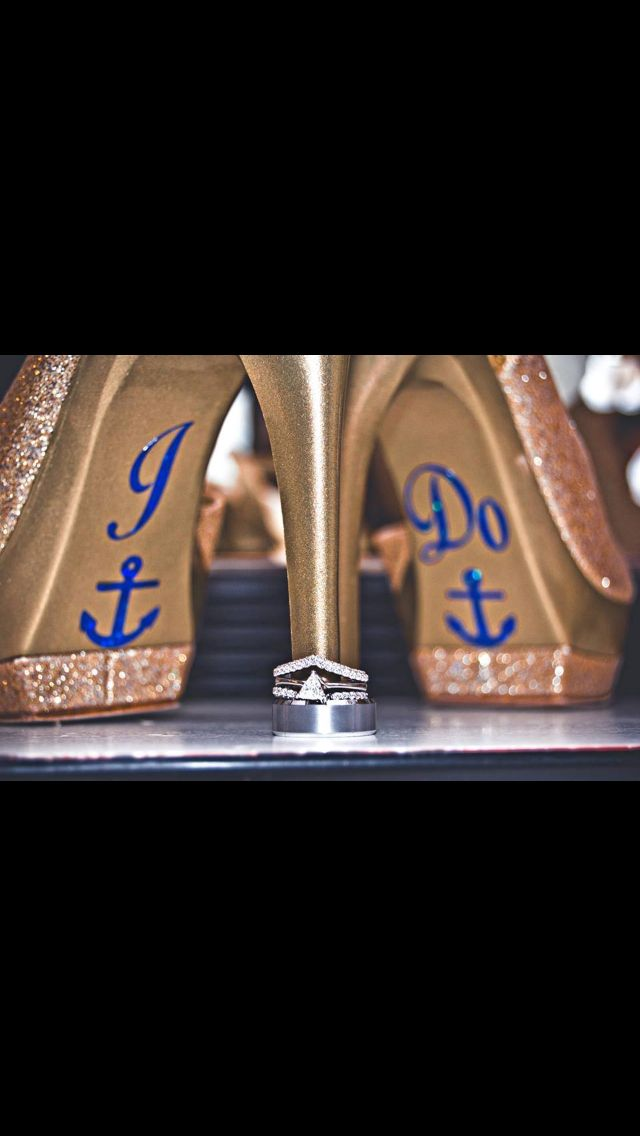 Us navy wedding shoes! Love love love these. Of course id do different colors, shoes and lettering