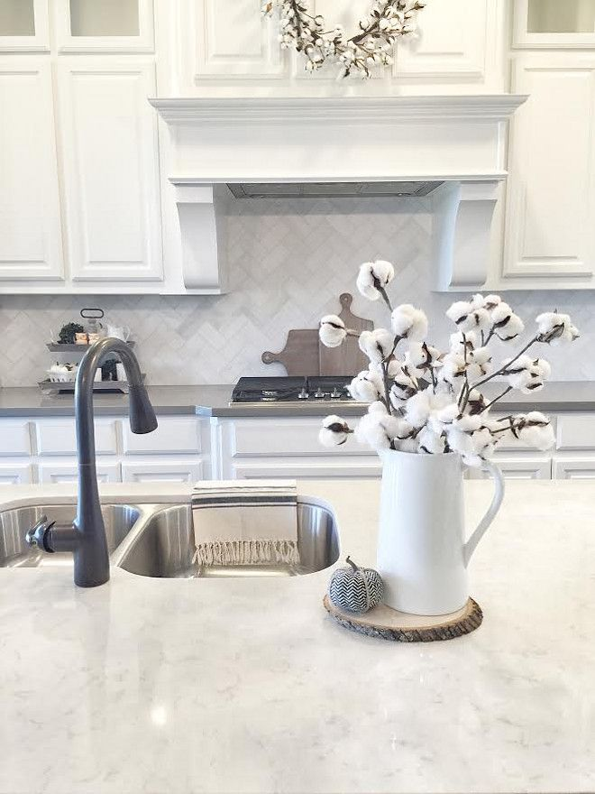 Beautiful Homes of Instagram. Lagoon Silestone Quartz 4 cm square edge countertop