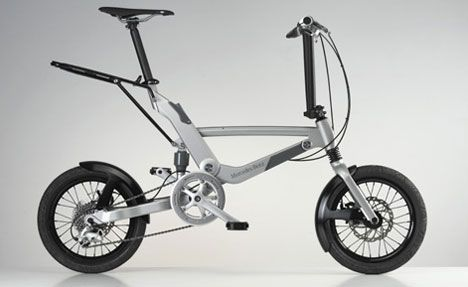 Mercedes Benz folding #bicycle - and 20 other mostly folding #bikes See: http://www.treehugger.com/bikes/21-small-wheel-bicycles-the-zippy-revolution.html