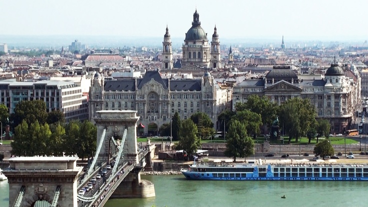 Chain Bridge & St. Stephen's Basilica, Budapest. view on FB https://www.facebook.com/BudapestPocketGuide   photo: Michel Guilly