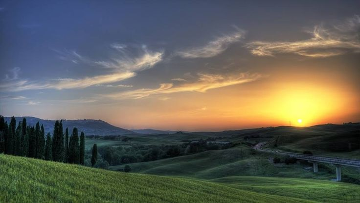 Sunset in #Tuscany
