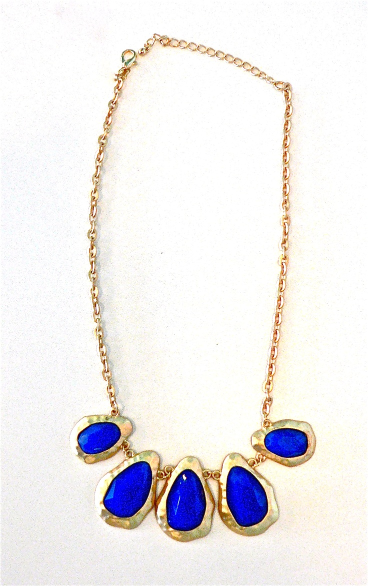This blue chunk necklace is truly breathtaking- perfect for your 4th of July ensemble!Chunk Necklaces, Shea Boutiques, Online Closets, 4Th Of July, Blue Chunk, July Ensemble, Dreams Closets