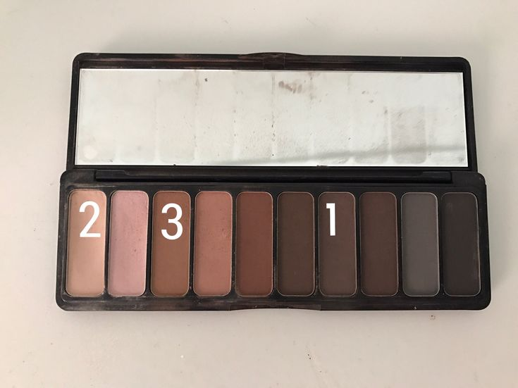 The Elf Mad for Matte palette  1) blend into the crease  2) apply as a base 3) blend into the outer corner