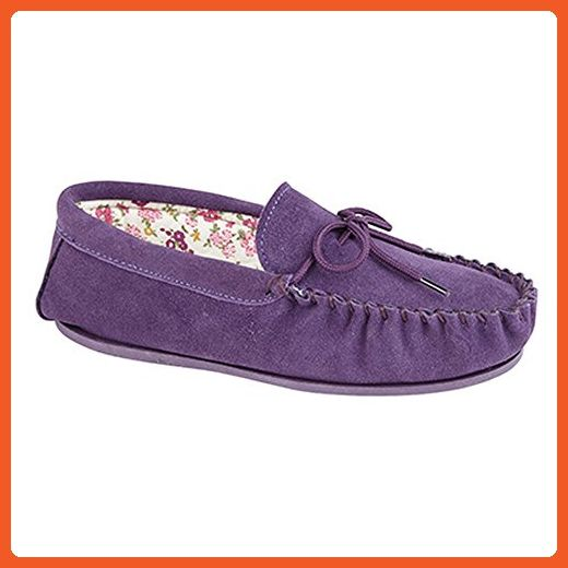Mokkers Womens/Ladies Lily Slip On Slippers (9 US) (Purple) - Slippers for women (*Amazon Partner-Link)