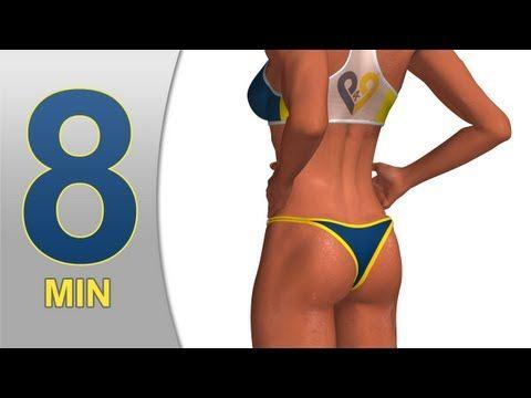 8 min buns - butt workout - YouTube