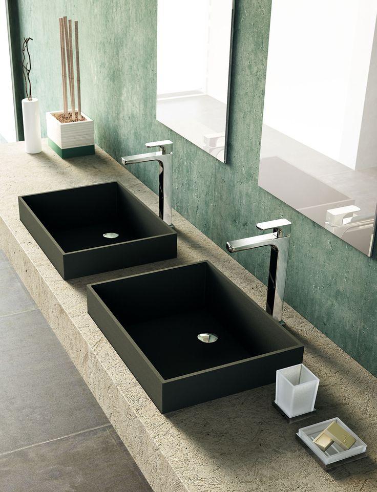 Deck-mounted wash basin mixer for washbowl, Chrome finishing