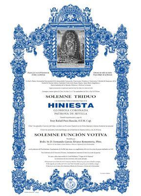 Azul y plata: Documento gráfico: Virgen de la Hiniesta de blanco