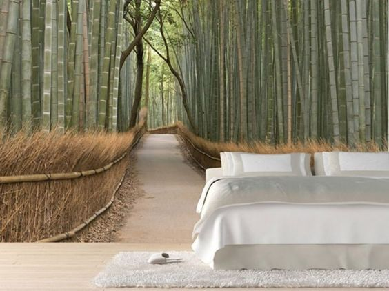 Forest in a bedroom