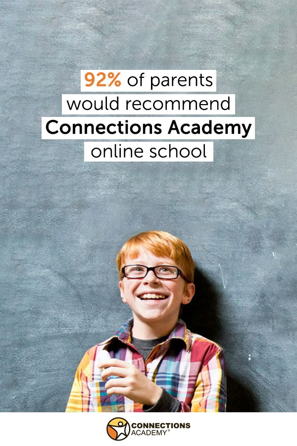 92% of parents with children enrolled in Connections Academy would recommend it to others! Learn more about this tuition-free, online public school.