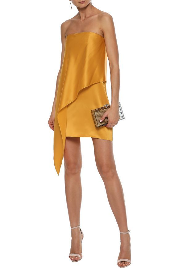 488ae5f8fc05 Strapless silk-charmeuse mini dress | MICHELLE MASON | Sale up to 70% off |  THE OUTNET