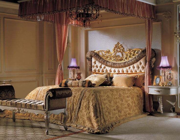 Royal Luxury Bedroom Set Clic French Elegant Bed Furniture High Headboard Antique
