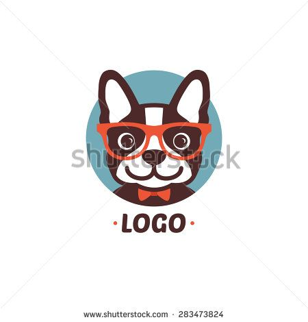 Logo dog - stock vector