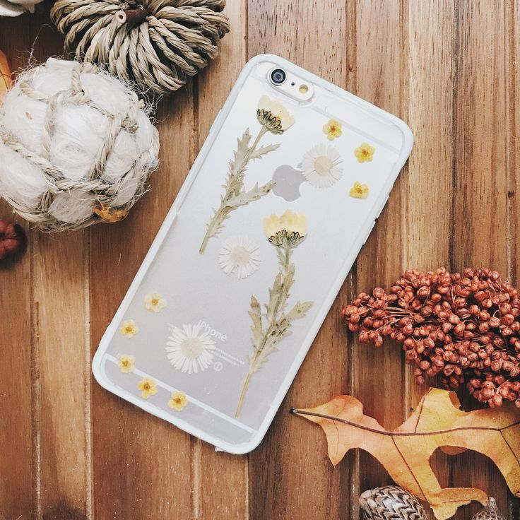 Sparkles |  Handmade Pressed Flower iPhone Bumper Cases for iPhone 6 Plus/iPhone 6s Plus |  Clear bumper case handmade with real pressed flowers
