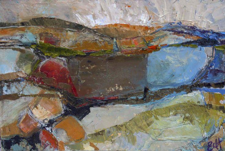 Rolling Hills Oil on Board 26 x 38 cm #Art #Paintings #Landscape