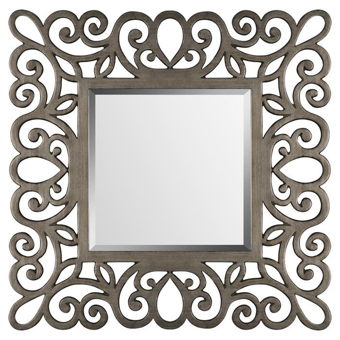 "Shari Wall Mirror | 45"" square x 3.5"" deep 