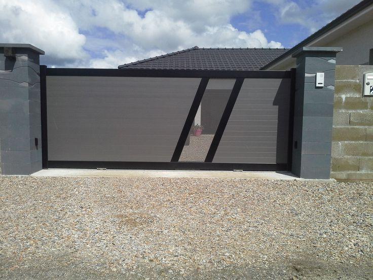Portail aluminium semi ajour t le perfor e mod le lougre for Portail jardin aluminium