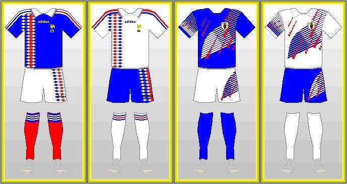 France & Japan Uniforms 1994