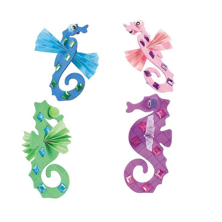 Seahorse Craft Kit - OrientalTrading.com - L's 3rd bday