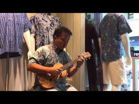 Shimanchu Nu Takara singing in our Ala Moana store. Head to reynspooner.com for more information.