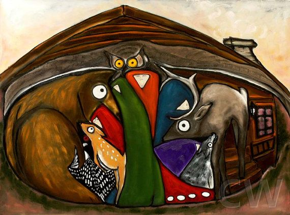 Signed Numbered Oil Painting Giclee Print My Cabin  by by OSOhome, $51.00