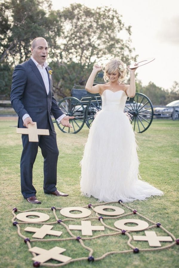 wedding checkers. cute entertainment for your reception!