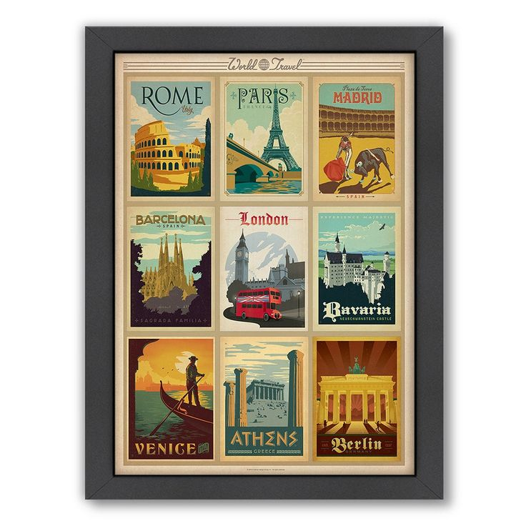 World Travel Poster