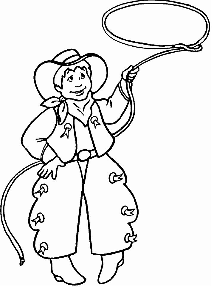 Free Cowboy Coloring Pages For Kids