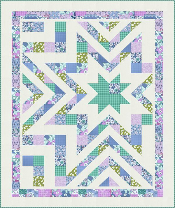 = free pattern = Starstruck quilt by Amy Barickman for RJR Fabrics
