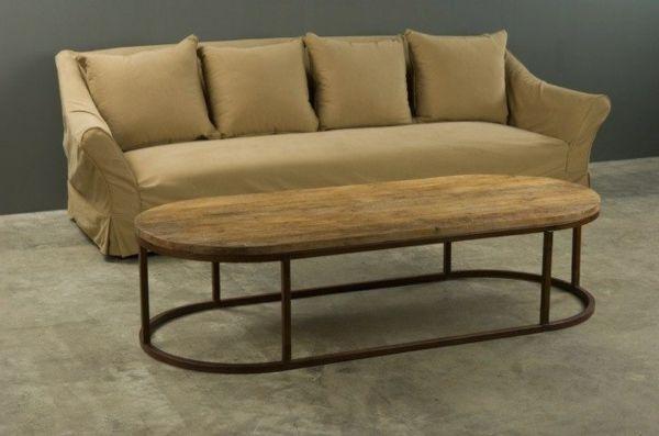 table basse ovale en bois