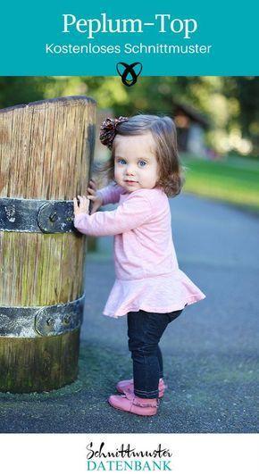 Peplum-Top für Kinder Noch keine Bewertung. | nähen | Pinterest ...