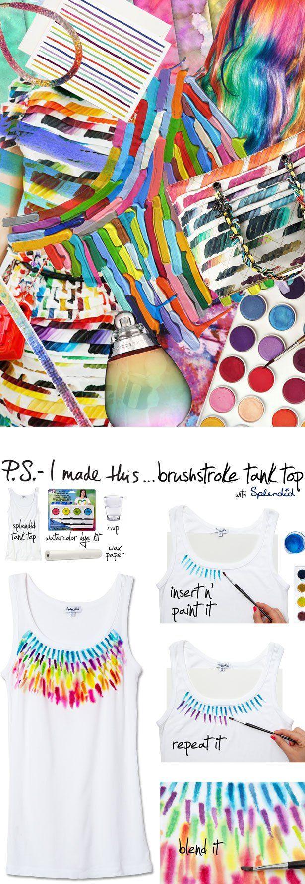Pintar camisetas con acuarelas - Manualidades Gratis