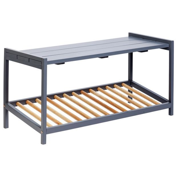 Buy Habitat Remmi Grey Shoe Bench at Argos.co.uk - Your Online Shop for Shoe storage, Storage, Home and garden.