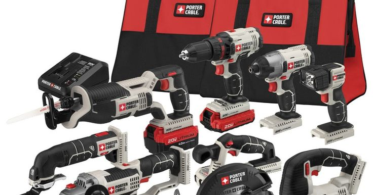Lowe's: PORTER-CABLE 8-Tool 20-volt Max Lithium Ion Cordless Combo Kit Only $349 Shipped (Reg. $499)