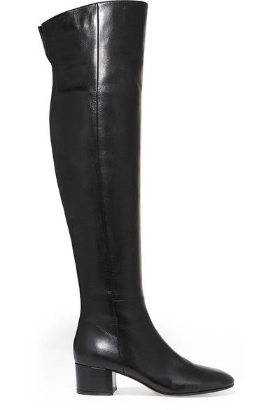 Gianvito Rossi - Leather Over-the-knee Boots - Black - IT35.5
