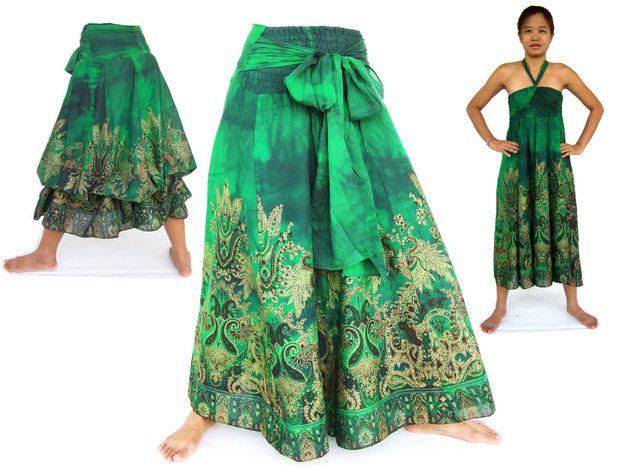 Otros - Vestido, Hippie Falda, estilo étnico - hecho a mano por Siamrose en DaWanda