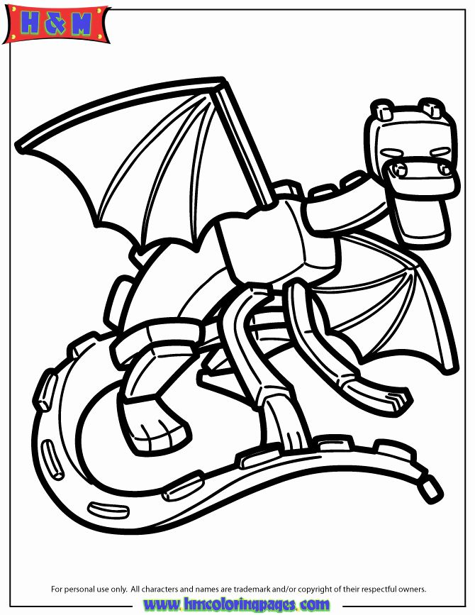 Ender Dragon Coloring Page Elegant Ender Dragon Coloring Page Dragon Coloring Page Minecraft Coloring Pages Coloring Books