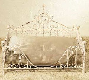 creative pet beds | How about a stylish Victorian iron bed to work in with your own decor ...