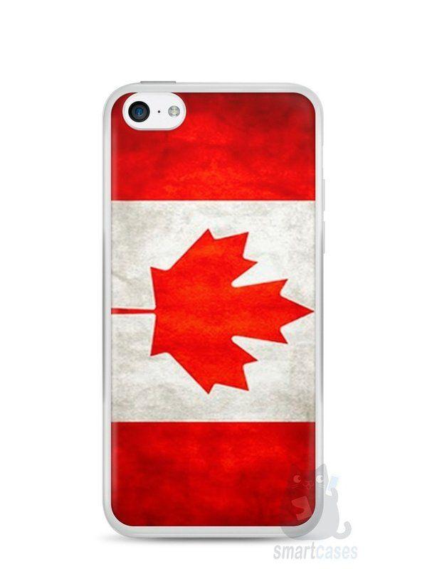 Capa Iphone 5C Bandeira do Canadá - SmartCases - Acessórios para celulares e tablets :)