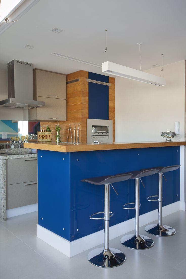 Kitchen by Mariana Camara arquitetura #bluemood #bluedecor #decor #livingroom #blue  #decor #decoration #livingroom #architecture #interni #interiordesign #project #design #decoration #brazilianinterior #braziliandesign