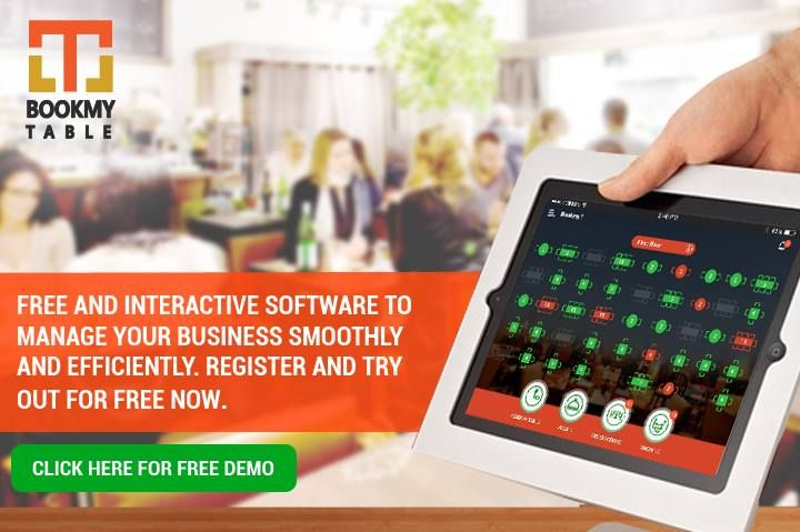 Bookmyt The Best Restaurant Management Solution Free Table - Restaurant table software