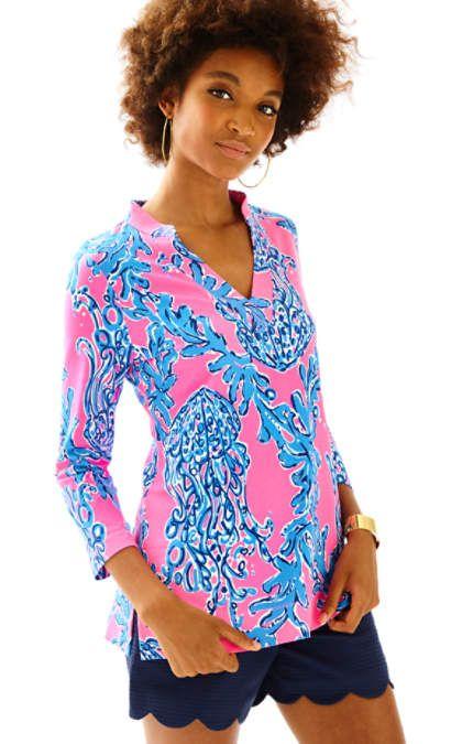 2b386be8930 UPF 50+ Vero Tunic   Vacation   Printed shorts, Lilly pulitzer ...