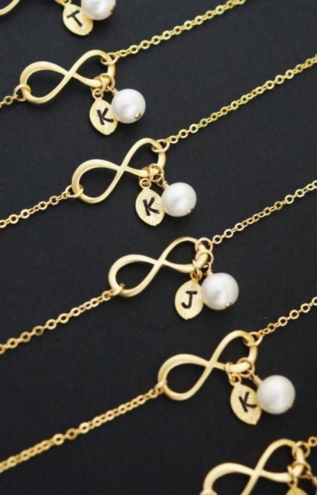 Infinity Bracelet, Personalized Bracelet, Initial Bracelet, Gemstone Bracelet, Friendship Bracelet, Bridesmaid Gifts, Christmas (B-B-0020)