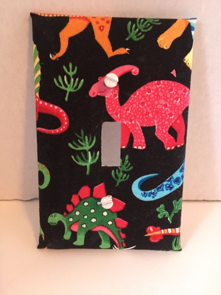 Baby Dinosaurs  switch plates by flicktheswitchart on Etsy