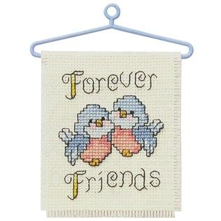 best friends cross stitch mini birds | ... Cross Stitch & Embroidery Kits | Forever Friends Counted Cross Stitch this one hangs in my cubicle also